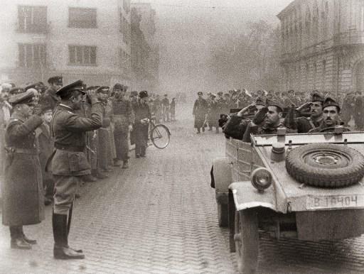 Посрещане на Първа българска армия в София - 1945г.